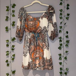 Woman's Dina Be Multicolor Long Sleeve Dress S